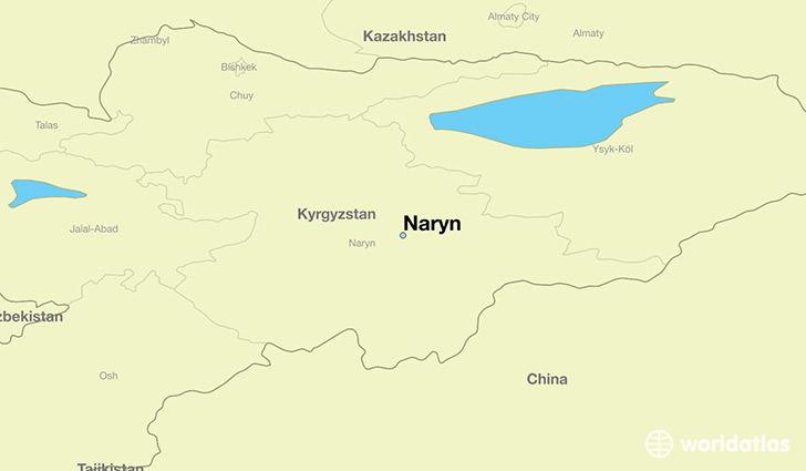 map showing the location of Naryn