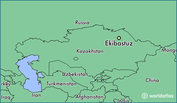 map showing the location of Ekibastuz