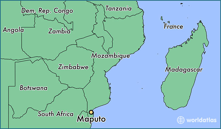 Where is Maputo, Mozambique? / Maputo Map   WorldAtlas.com