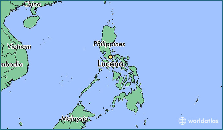 map showing the location of Lucena