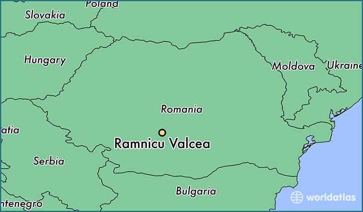 map showing the location of Ramnicu Valcea