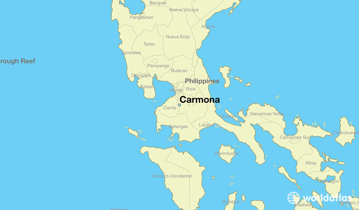 map showing the location of Carmona