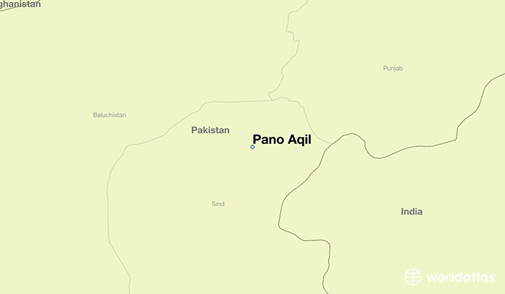 map showing the location of Pano Aqil