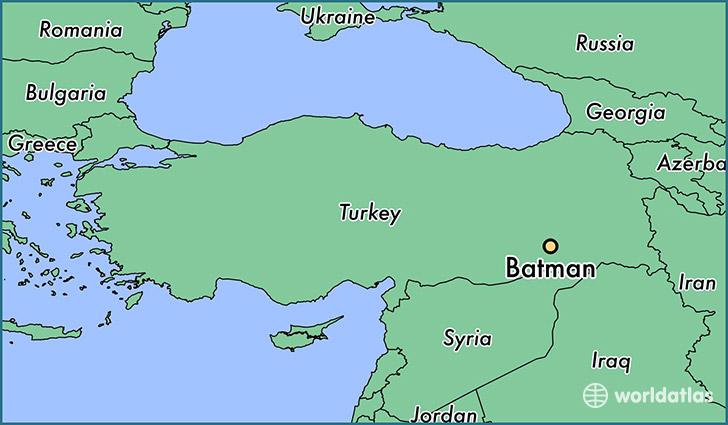 Where is batman turkey batman batman map worldatlas map showing the location of batman gumiabroncs Choice Image