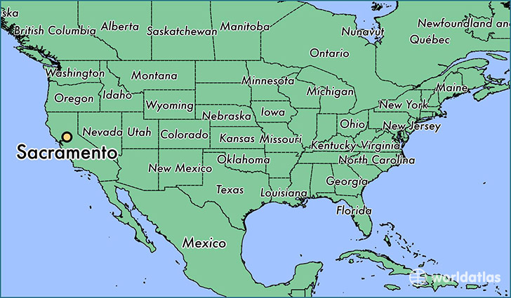 Where Is Sacramento Ca Sacramento California Map Worldatlascom - Us-map-la