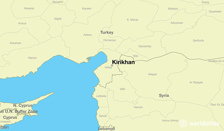map showing the location of Kirikhan