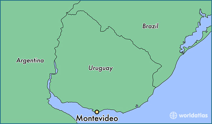 map showing the location of Montevideo