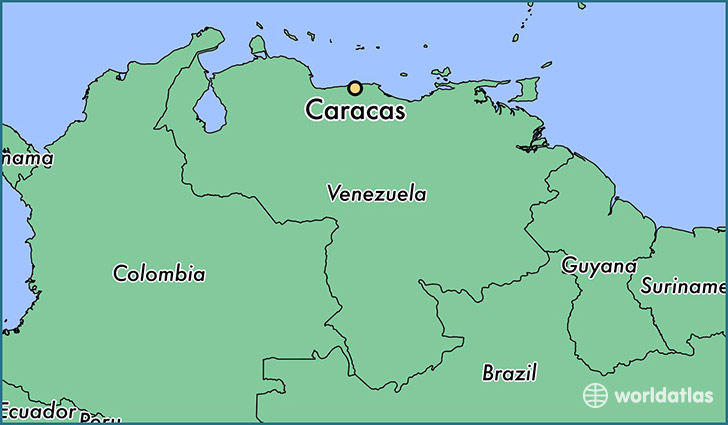 Where is Caracas Venezuela Caracas Capital Map WorldAtlascom