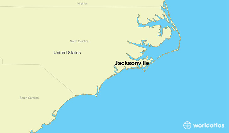Where Is Jacksonville Nc Jacksonville North Carolina Map