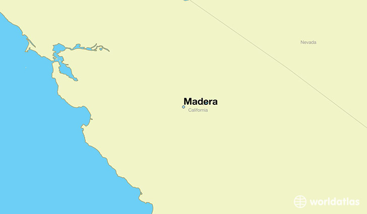 map showing the location of Madera