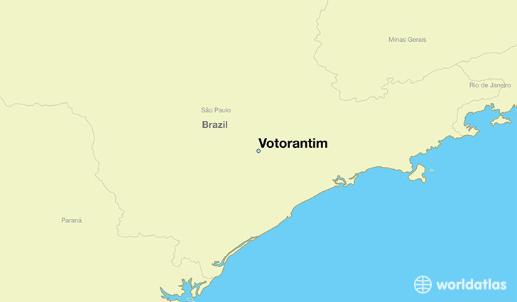 Where is Votorantim Brazil Votorantim Sao Paulo Map