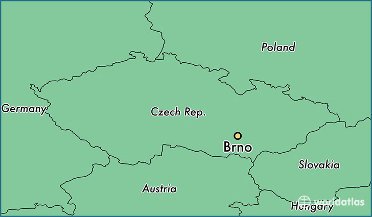 map showing the location of Brno