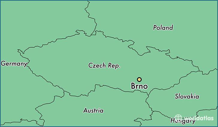 Where is Brno The Czech Republic Brno South Moravian Map