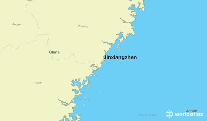 map showing the location of Jinxiangzhen