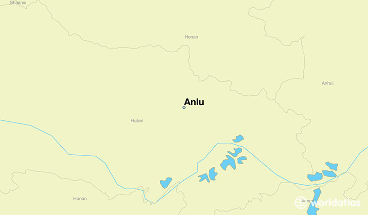 map showing the location of Anlu