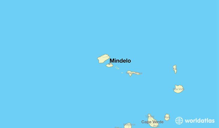 map showing the location of Mindelo