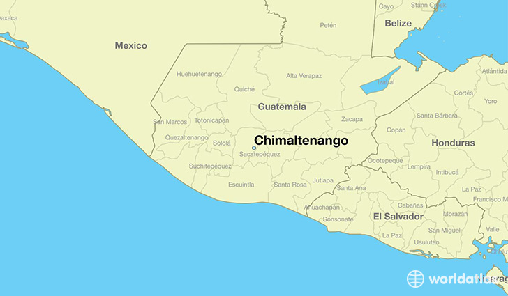 map showing the location of Chimaltenango