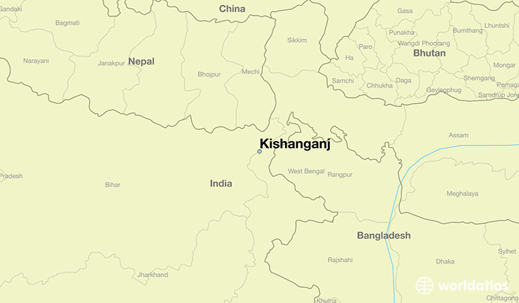 map showing the location of Kishanganj
