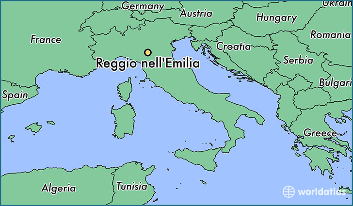 map showing the location of Reggio nell'Emilia