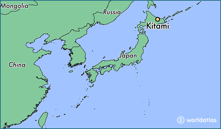 map showing the location of Kitami