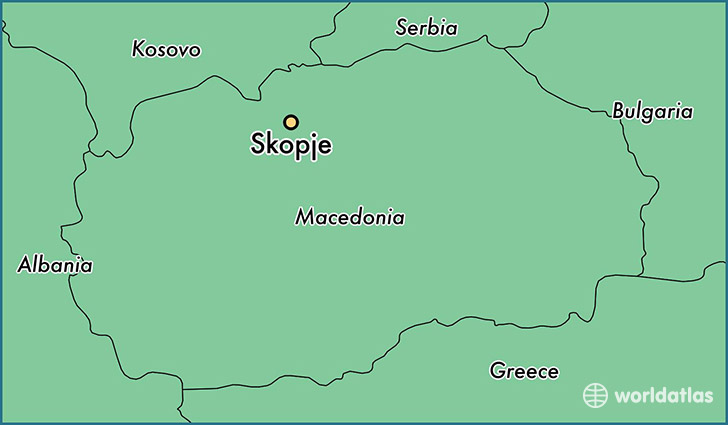 Where is Skopje Macedonia Skopje Karpos Map WorldAtlascom