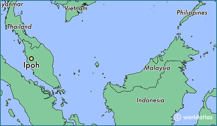 map showing the location of Ipoh