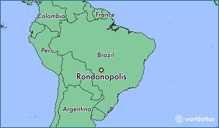 map showing the location of Rondonopolis