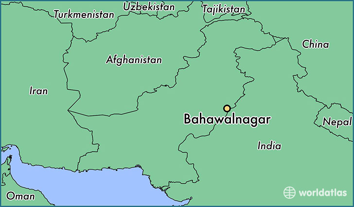 map showing the location of Bahawalnagar