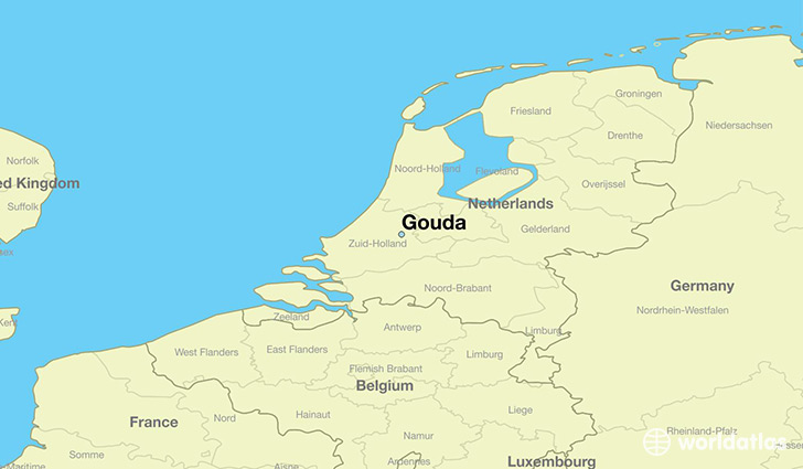 map showing the location of Gouda
