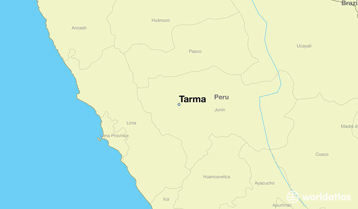 map showing the location of Tarma