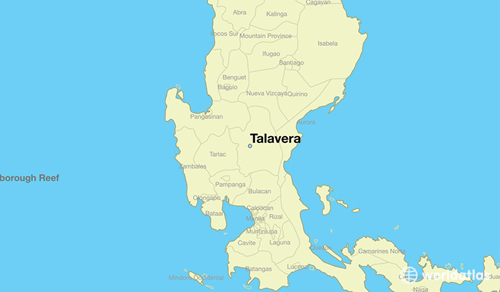 map showing the location of Talavera