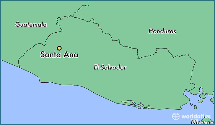 Where is Santa Ana El Salvador Santa Ana Santa Ana Map