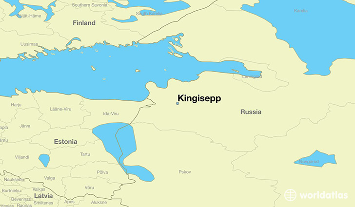 map showing the location of Kingisepp