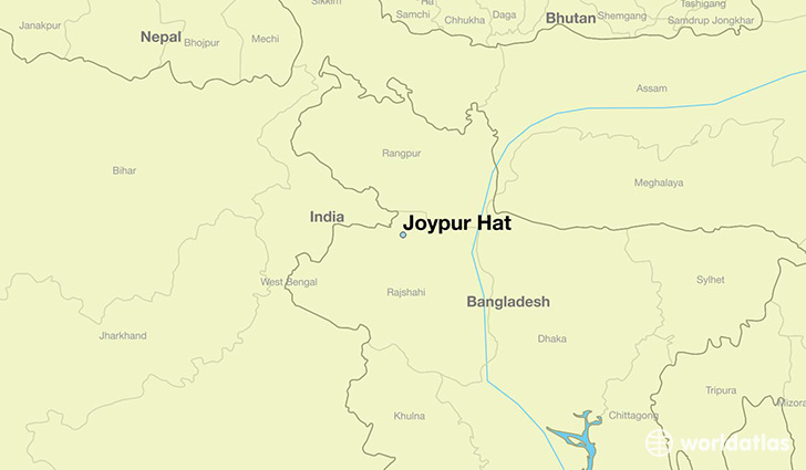 map showing the location of Joypur Hat