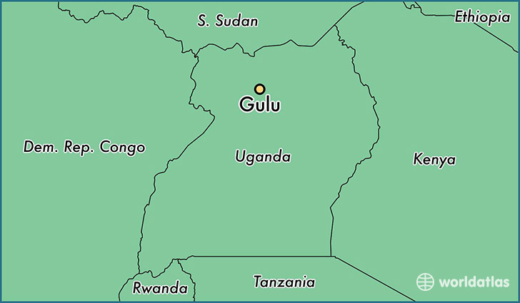 Where is Gulu Uganda Gulu Northern Region Map WorldAtlascom