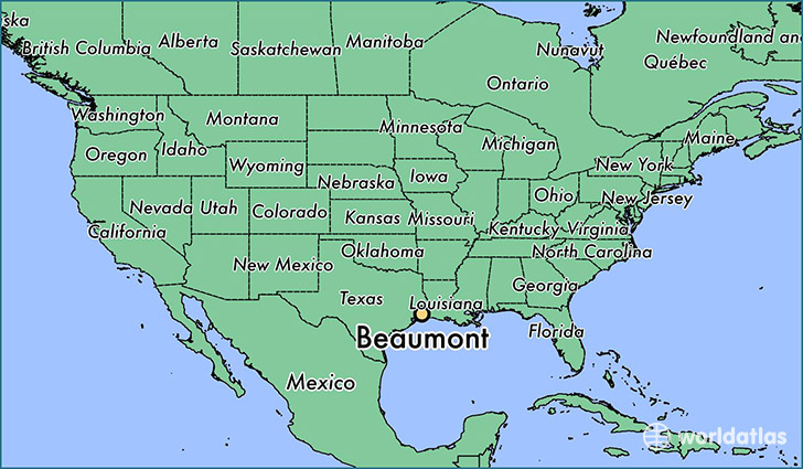 Beaumont Tx Map Where is Beaumont, TX? / Beaumont, Texas Map   WorldAtlas.com Beaumont Tx Map