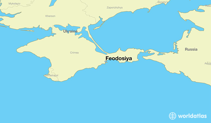 map showing the location of Feodosiya