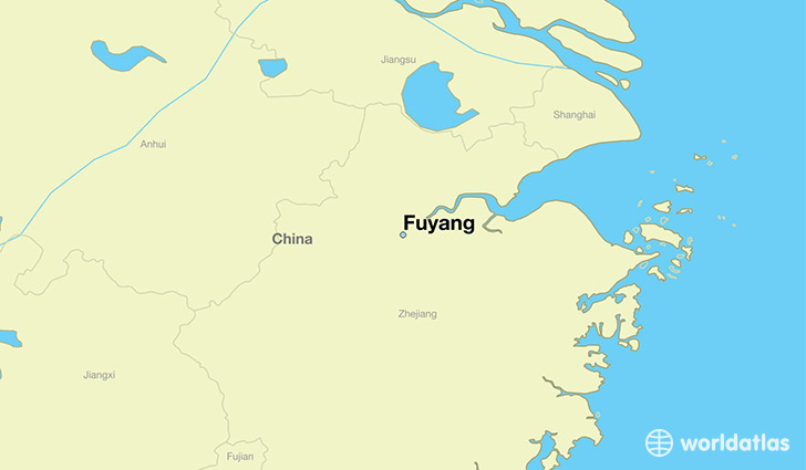 map showing the location of Fuyang