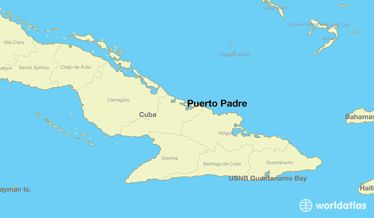 Map Showing The Location Of Puerto Padre
