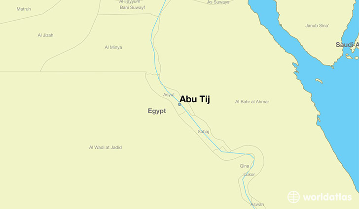map showing the location of Abu Tij