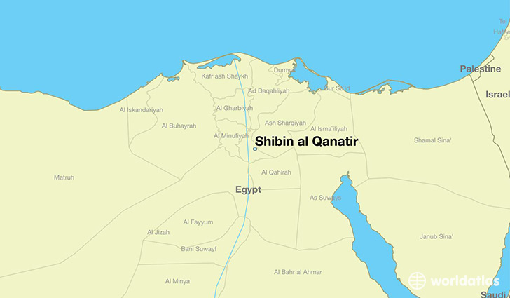 map showing the location of Shibin al Qanatir