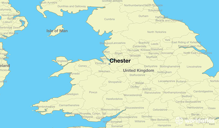 Where Is Chester England Chester England Map