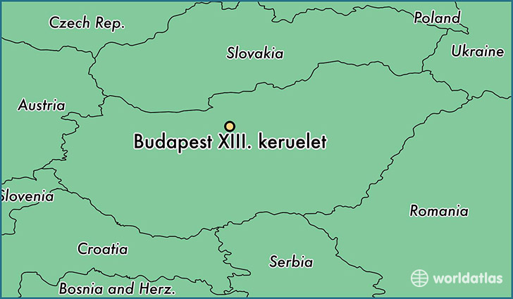 map showing the location of Budapest XIII. keruelet