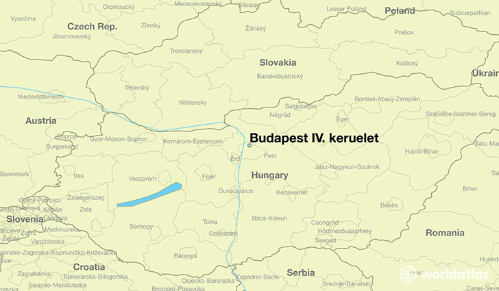 map showing the location of Budapest IV. keruelet