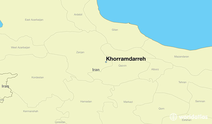 map showing the location of Khorramdarreh