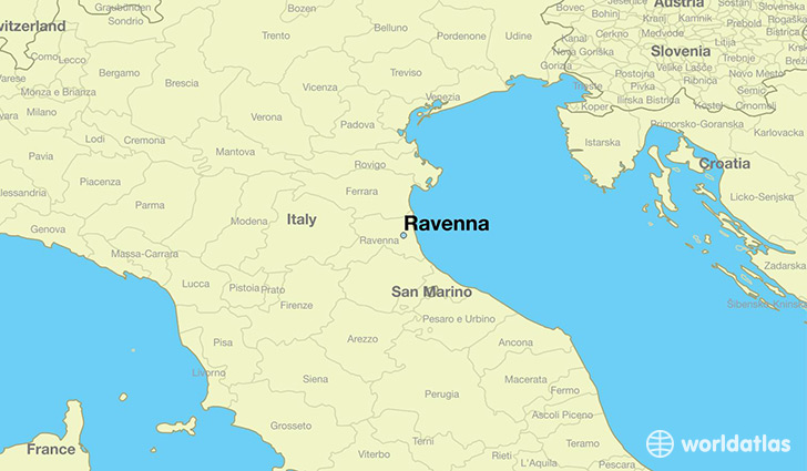 Where is ravenna italy ravenna emilia romagna map worldatlas map showing the location of ravenna gumiabroncs Images