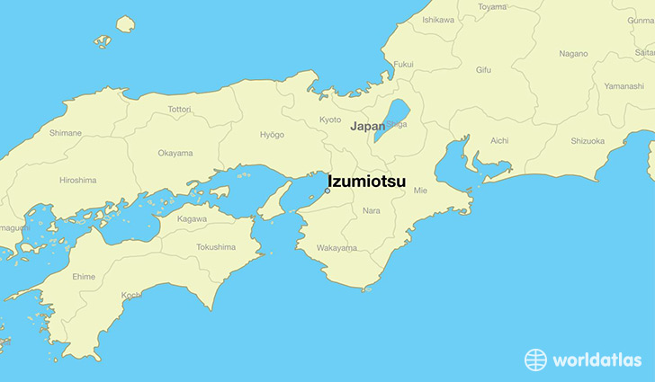 map showing the location of Izumiotsu