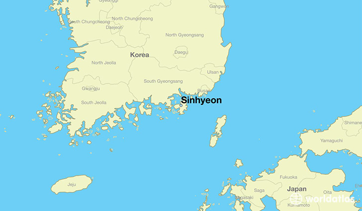 map showing the location of Sinhyeon