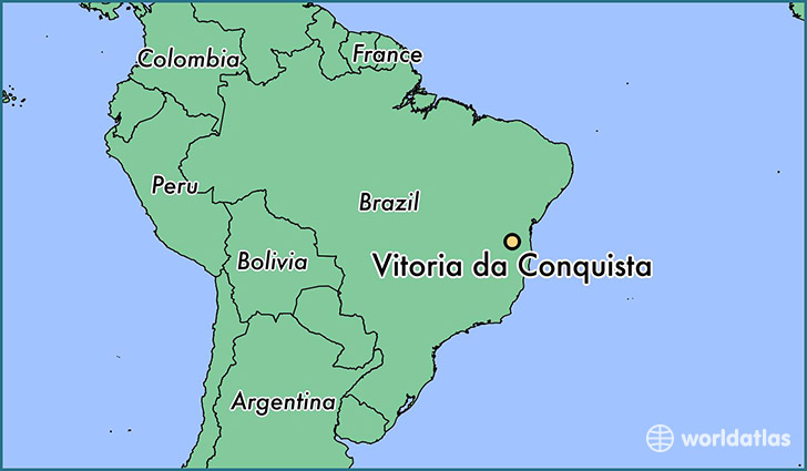 map showing the location of Vitoria da Conquista