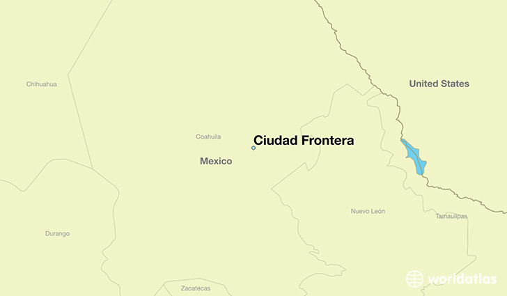 map showing the location of Ciudad Frontera